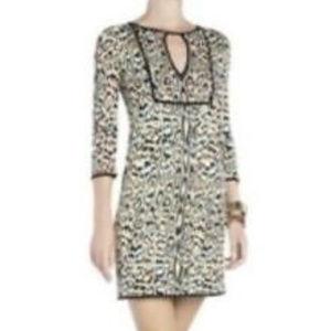 BCBGMAXAZRIA PHILIPE LEOPARD PRINT Knit dress S M